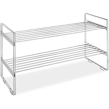 Whitmor 2 Tier Stackable Closet Shelves   Chrome