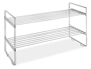 Whitmor Stackable Closet Shelves, Chrome