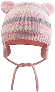 XIAOHAWANG Baby Hat Cute Bear Toddler Earflap Beanie Warm for Fall Winter