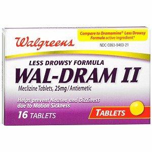 Walgreens Wal-Dram II Antiemetic Travel Sickness Tablets, 16 ea