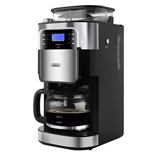 Gevi maker510 Coffee maker, 13.7 x 11.8 x 19.6 inches, Silver (Burr Grinder Coffee Maker)