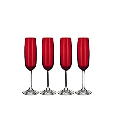 Marquis by Waterford Vintage Champagne Flute, Red, Set of 4