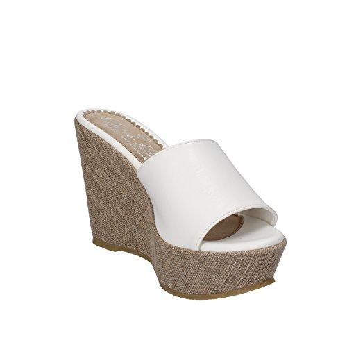 David Toys - Sandalias de vestir de Piel para mujer blanco Bianco