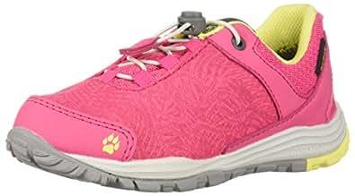 Jack Wolfskin Unisex Portland Texapore Low K Sneaker, Tropic Pink, 3.5 M US Little Kid