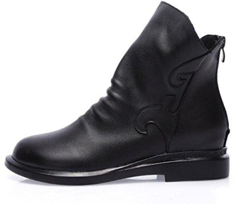 femminili impermeabile piattaforma 39 Martin e nuovo retrò in inverno Autunno scarponi stivali scarpe scarpa sottile pelle ZXzqvwF