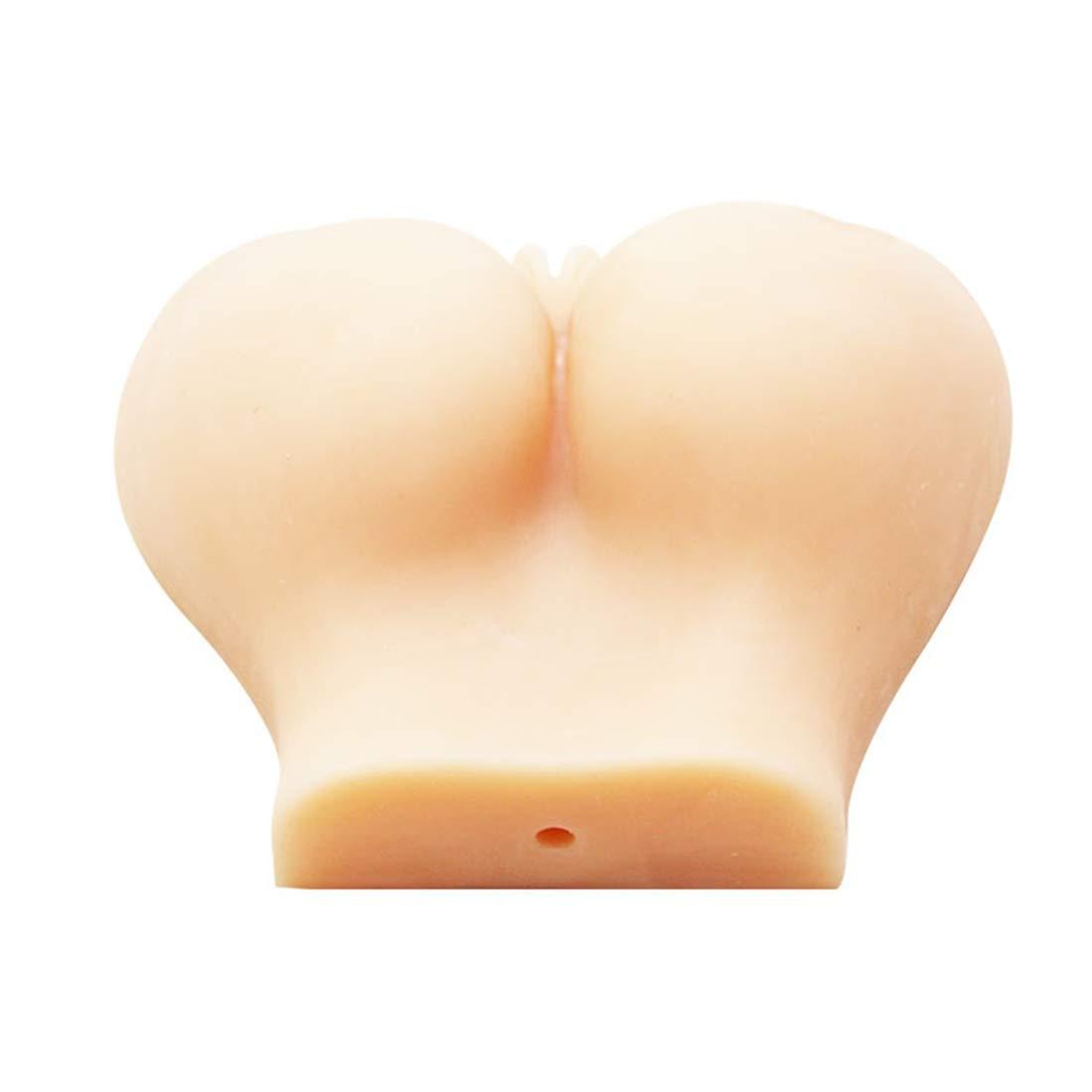 Gawe Ndaq Masturbación Culo de Silicona 3D Masturbación Ndaq Masculina Simulación Doble Agujero Culo Masaje Juguetes para Adultos,1.2Kg, Flesh 6345f7