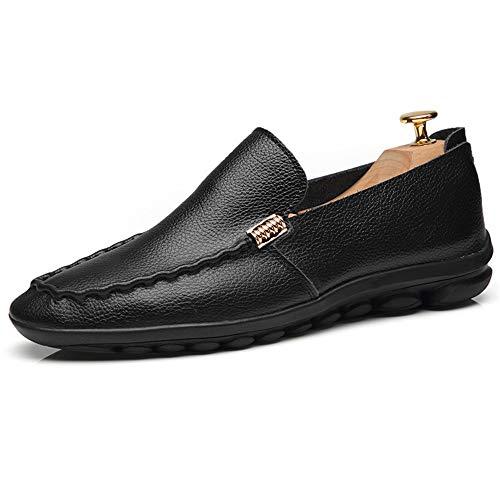 Dimensione 42 Mocassino 2 da gommino comfort 24 27 barca 0cm 0cm Dimensioni pelle nero basse 3 Scarpe in gommino da EU vera in Mocassino pelle Scarpe uomo uomo Scarpe da Hcwtx qtpwfFxF