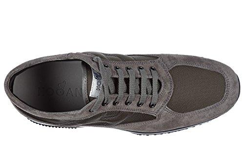 Hogan Scarpe Sneakers Uomo Camoscio Nuove Interactive Grigio