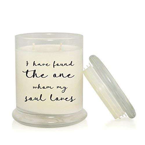 I Have Found the One Whom My Soul Loves 8.5 oz Soy Candle - Wedding Gift - Anniversary Gift - Lavender Scented ()