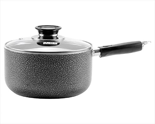 Metro Basics Specialty Nonstick Dishwasher Safe Handy Pot Sauce-pan with Glass Lid Cookware, 3.5 Quart