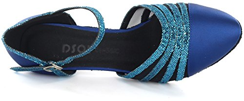 DSOL Womens Pumps Dance Shoes DC360-13 Heel 1.5 Blue qMa5QxV