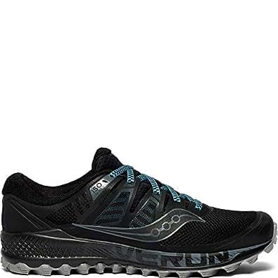 Saucony Peregrine Iso Men's Running Shoes, Black Grey, 8 US