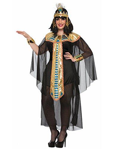 Cleopatra Costumes Plus Size (Forum Women's Size Cleopatra Black Costume, Multi/Color, Plus)