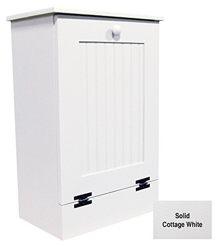 Tilt Out Wooden Trash Cabinet (Solid - Cottage White)