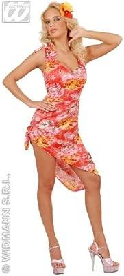 Desconocido Vestido de traje de hawaiana  de color rojo ...