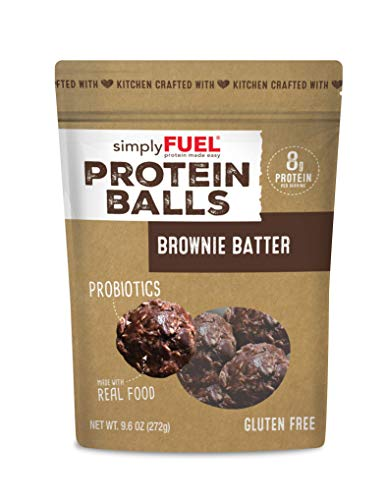 Whole Food Protein Balls, Brownie Batter by simplyFUEL - Gluten Free -...
