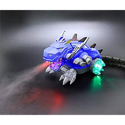 Aimoly Electronic Walking & Spray Mist Dinosaur Toys ,Mist Spray Dinosaur,Spray Lighting,Lights,Auto Walking, Sound Effects, Head and Tail Swing,Realistic Dinosaur, Toy for Kids: Toys & Games