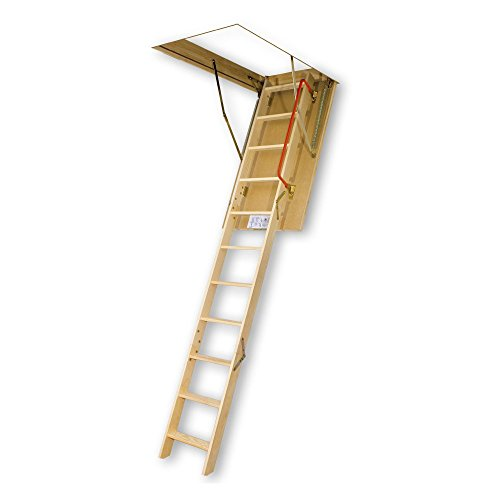 [FAKRO LWS-PL 66853 Insulated Attic Ladder for 22-Inch x 54-Inch Rough Openings] (Wooden Attic Stair)