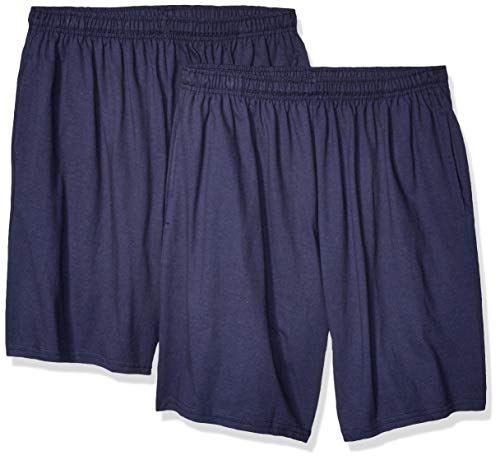 Soffe MJ Men's Classic Cotton Pocket Short, 2 Pack Navy, XX-Large (Short Ii Classic)