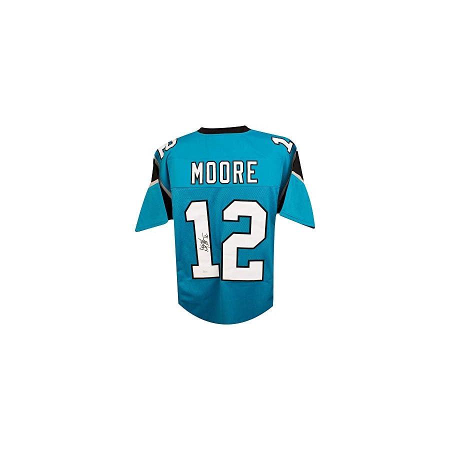 D.J. Moore Autographed Carolina Panthers Custom Football Jersey JSA COA