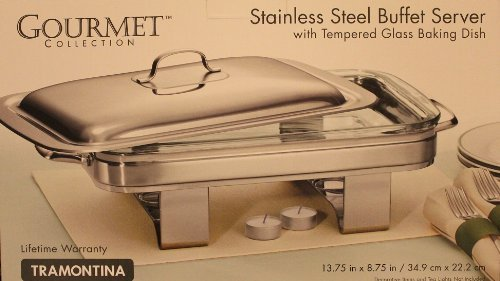 Tramontina Gourmet Stainless Buffet Tempered