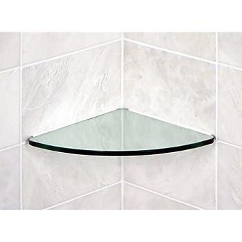 Floating Glass Shelves Bathroom Tempered Glass Curved