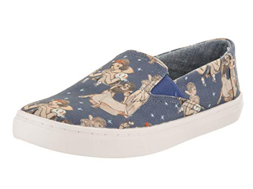 TOMS Kids Girl's Luca Disney¿ Princesses (Little Kid/Big Kid) Blue Snow White Printed Canvas 2 M US Little Kid M -