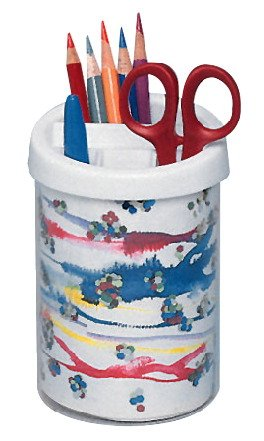School Specialty Plastic Cup Pencil and Pen Cup, White