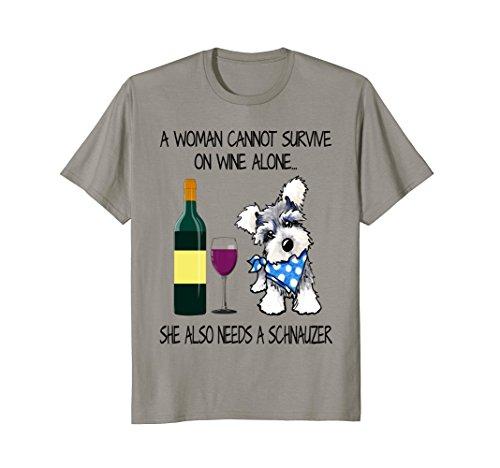 Schnauzer and Wine Lover T Shirt