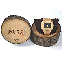 Wooden Watch for Men and Women - Sunda Natural Canadian Maple Wood Grain - Wrist Watches - Matoa by WÜD