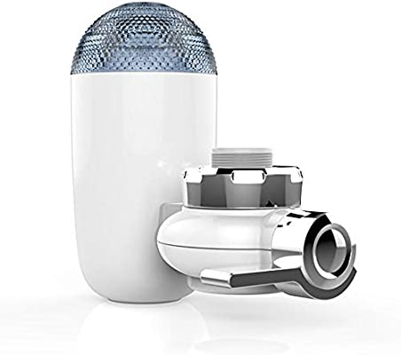 PowMax WW-43 Water Filtration Faucet Mount Faucet Water Filter Faucet Water Filter System with 2 Mieral Clear Filter