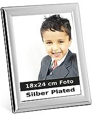 silberkanne Bilderrahmen Paris 18x24 cm Foto Silber Plated versilbert in Premium Verarbeitung