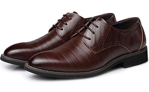 Pattini di cuoio degli uomini di CSDM Scarpe da sposa casual di punta delle scarpe da sposa di punta di formato , brown , 45