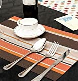 DHmart 4pcs/lot 5 Color Dining Table Mat PVC Placemat Waterproof Heat Insulation Silicone Pad Kitchen Accessories Placemats for Table