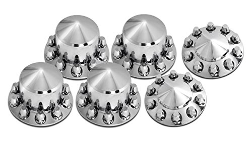 Usa Star Complete Truck Hub 6 Wheel Cover Kit - Cone/Screw On