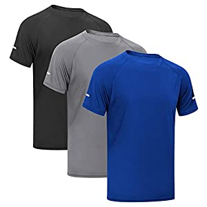 MEETYOO T-Shirts Hommes, Manches Courtes Tee Shirt Maillot Sport Running Vetement pour Jogging Musculation Gym
