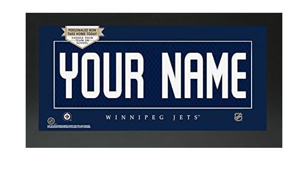buy popular d0933 f3b17 Amazon.com - Winnipeg Jets NHL Custom Jersey Nameplate ...