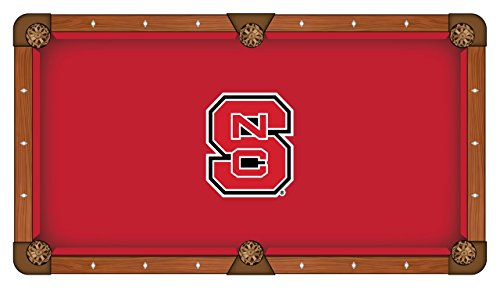 Holland Bar Stool Co. 7' North Carolina State Pool Table Cloth by The