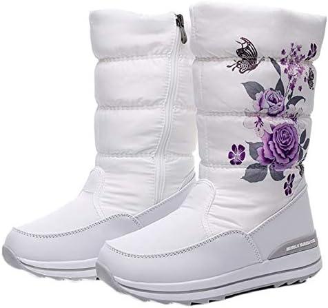 [JINFE] スノーブーツ レディース ふわふわ 防水 撥水 防滑 サイドジッパー おしゃれ 滑らない ウインターブーツ 綿靴 雪靴 防寒ブーツ 裏起毛 ボア ダウンブーツ スノーシューズ 軽量 ハイキング キャンプ 大きいサイズ 白 女性靴