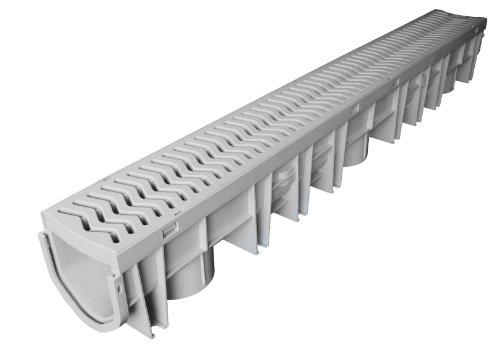 Fernco FSDP-CHGG StormDrain Plus Channel and Grey Grate Assembly
