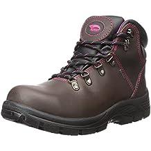 Avenger Women's 7125 Leather Waterproof EH Slip Resistant Steel Toe Work  Boot