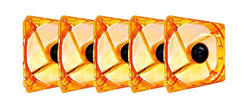 Apevia CF512L-OG 120mm 4pin Molex + 3pin Motherboard Silent Orange LED Case Fan - Case Fan Orange Thermal
