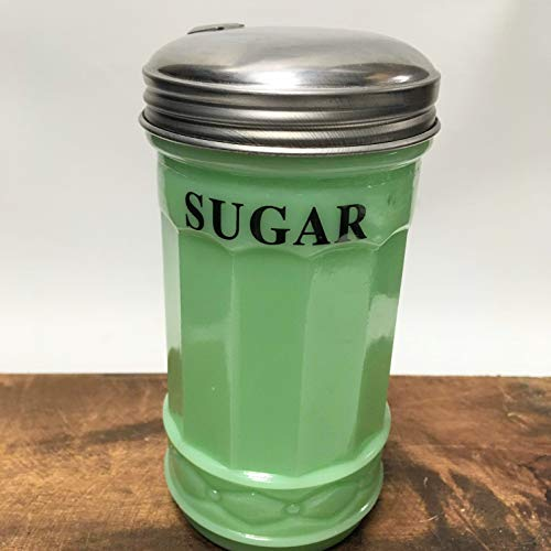 Jadeite Glass SUGAR Pourer with Spout - Retro Vintage Style Kitchen ()