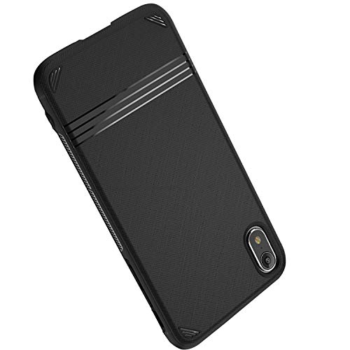 HE Ultra-Thin Slim fit Premium TPU Shell Soft Touch Feeling Scratch Fingerprint Resistant Anti-Slip Protective Case for Apple iPhone Xr-Black ()
