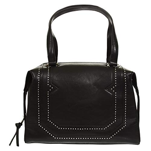 BCBGeneration Black Lusso Satchel Handbag for Women by BCBG ()