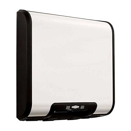 Bobrick 7120 TrimLineSeries Zinc-Plated Steel ADA Surface-Mounted Automatic Hand Dryer, White Epoxy Finish, 115V
