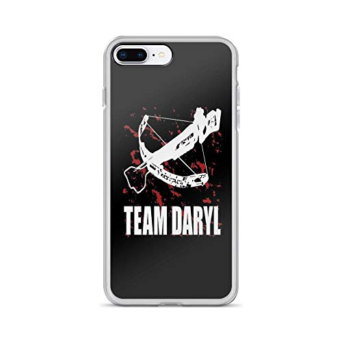 iPhone 7 Plus/iPhone 8 Plus Case Clear Anti-Scratch Team Daryl Dixon The Walking Dead, Daryl Cover Phone Cases for iPhone 7 Plus iPhone 8 Plus]()