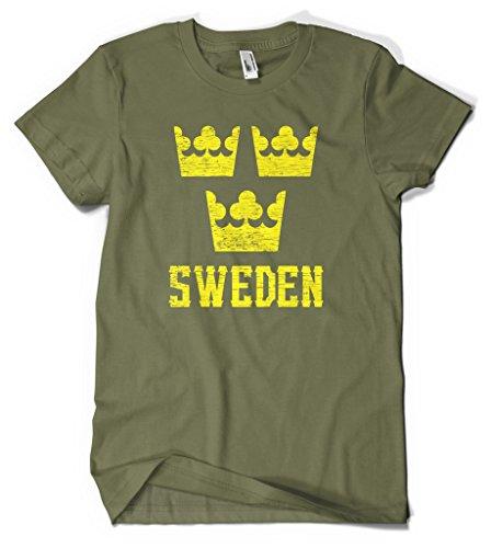 Ptshirt.com-19432-Cybertela Sweden Crown Men\'s T-shirt-B00VFBAA1M-T Shirt Design