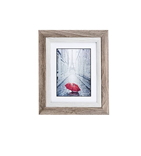 Lambert Frame Distressed Grey Wood Picture Frame, Display with Photo Glass Front, Easel Back and Wall Hang Clip, Ash