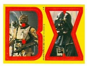 Star Wars Empire Strikes Back card #4 Topps Sticker 1980 BX Darth Vader Bounty Hunter
